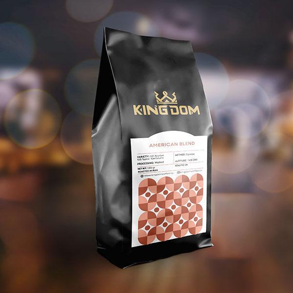 قهوه AMERICAN BLEND برشته کاری قهوه کینگدام