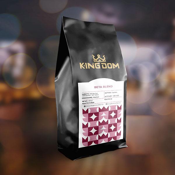 قهوه BETA BLEND برشته کاری قهوه کینگدام