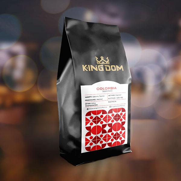 قهوه COLOMBIA NARINO برشته کاری قهوه کینگدام