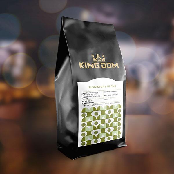 قهوه قهوه SIGNATURE BLEND برشته کاری قهوه کینگدام برشته کاری قهوه کینگدام
