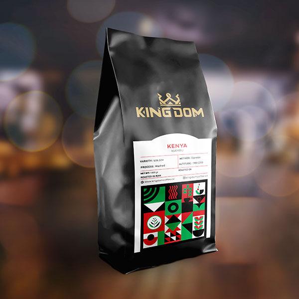 قهوه KENYA KIAMBU برشته کاری قهوه کینگدام